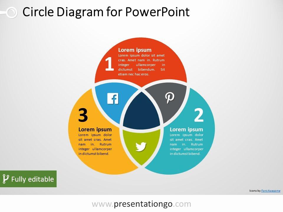 3 Circle Venn Powerpoint Diagram Presentationgo