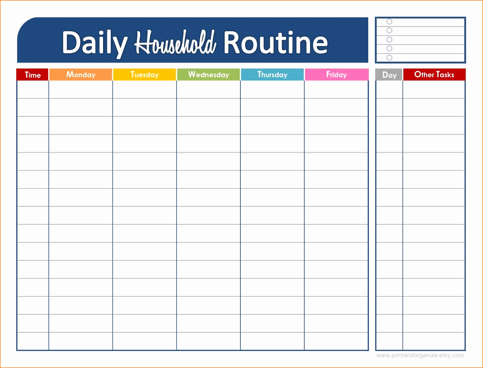 3 Daily Schedule Printable