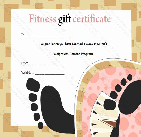 3 Fitness Gift Certificate Templates – Free Sample