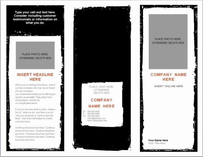 3 Fold Brochure Template Free Templates Resume
