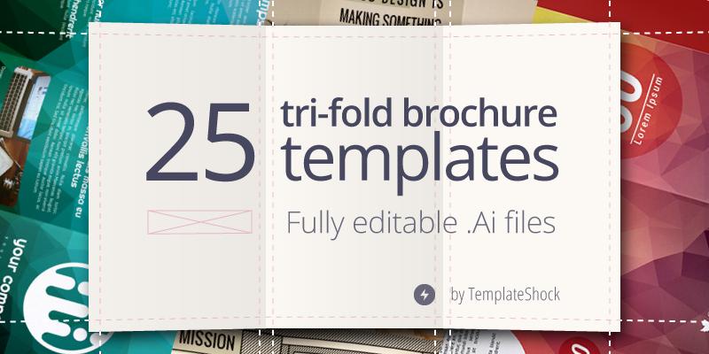 3 Fold Brochure Template Illustrator 25 Editable