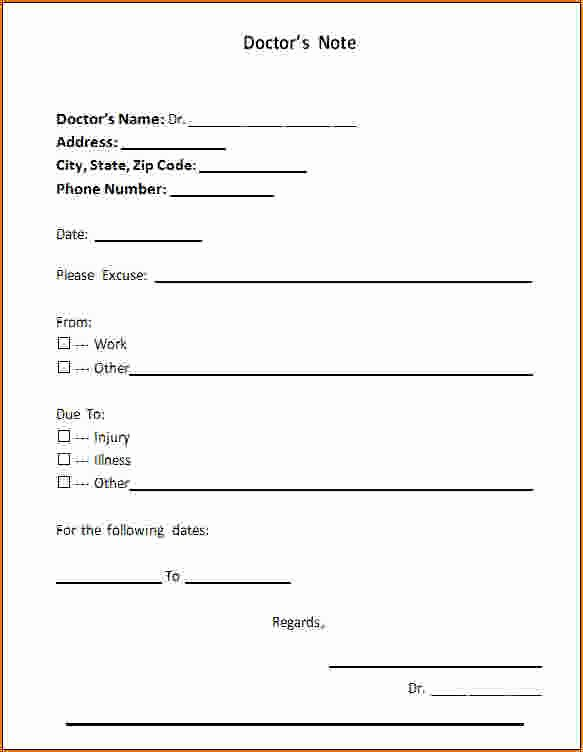 3 Free Doctors Note Template