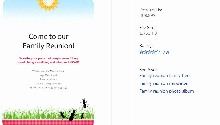3 Free Family Reunion Flyer Templates