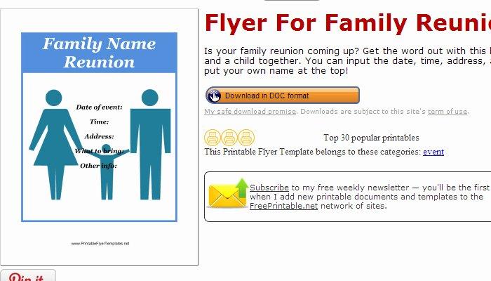 3 Free Family Reunion Flyer Templates