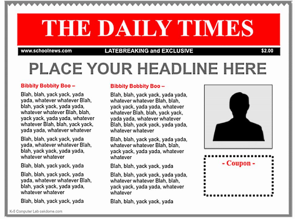 3 Good Ipad Newspaper Templates for Teachers