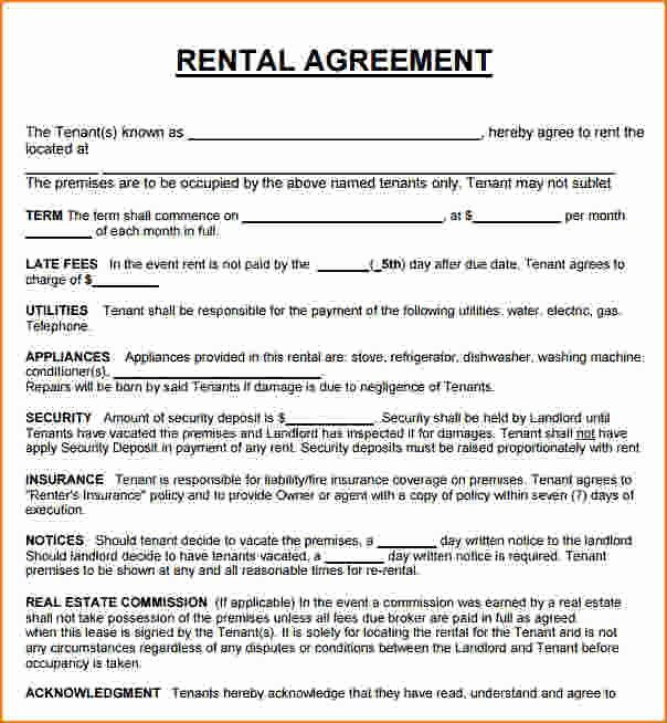 3 House Rental Agreement