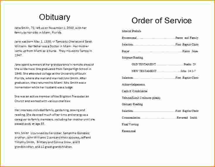 3 Memorial Service Program Templates