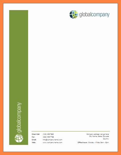 3 Microsoft Word Letterhead Template