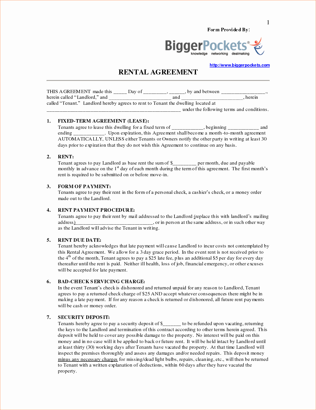 3 Rent to Own Contract formreport Template Document
