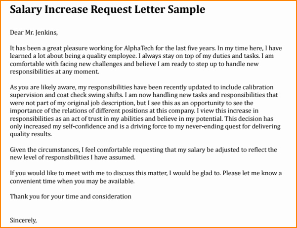 3 Request for Salary Increase Letter
