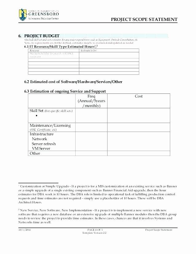 3 Scope Work Document Template Free Scope Work