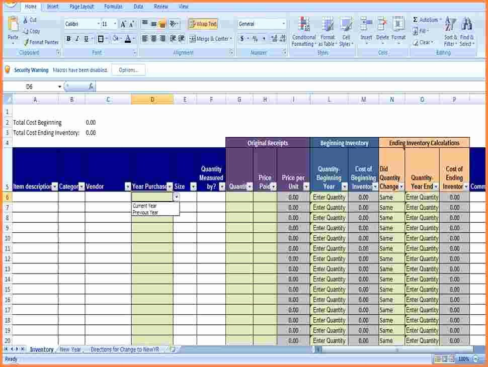 3 Small Business Inventory Spreadsheet Template