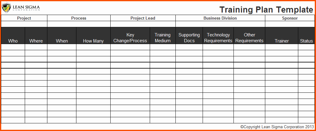 3 Training Plan Templatememo Templates Word