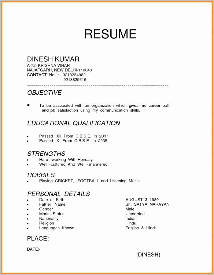 3 Types Resume Sample Resume Resume Examples