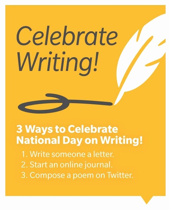 3 Ways to Celebrate National Day On Writing 1 Write