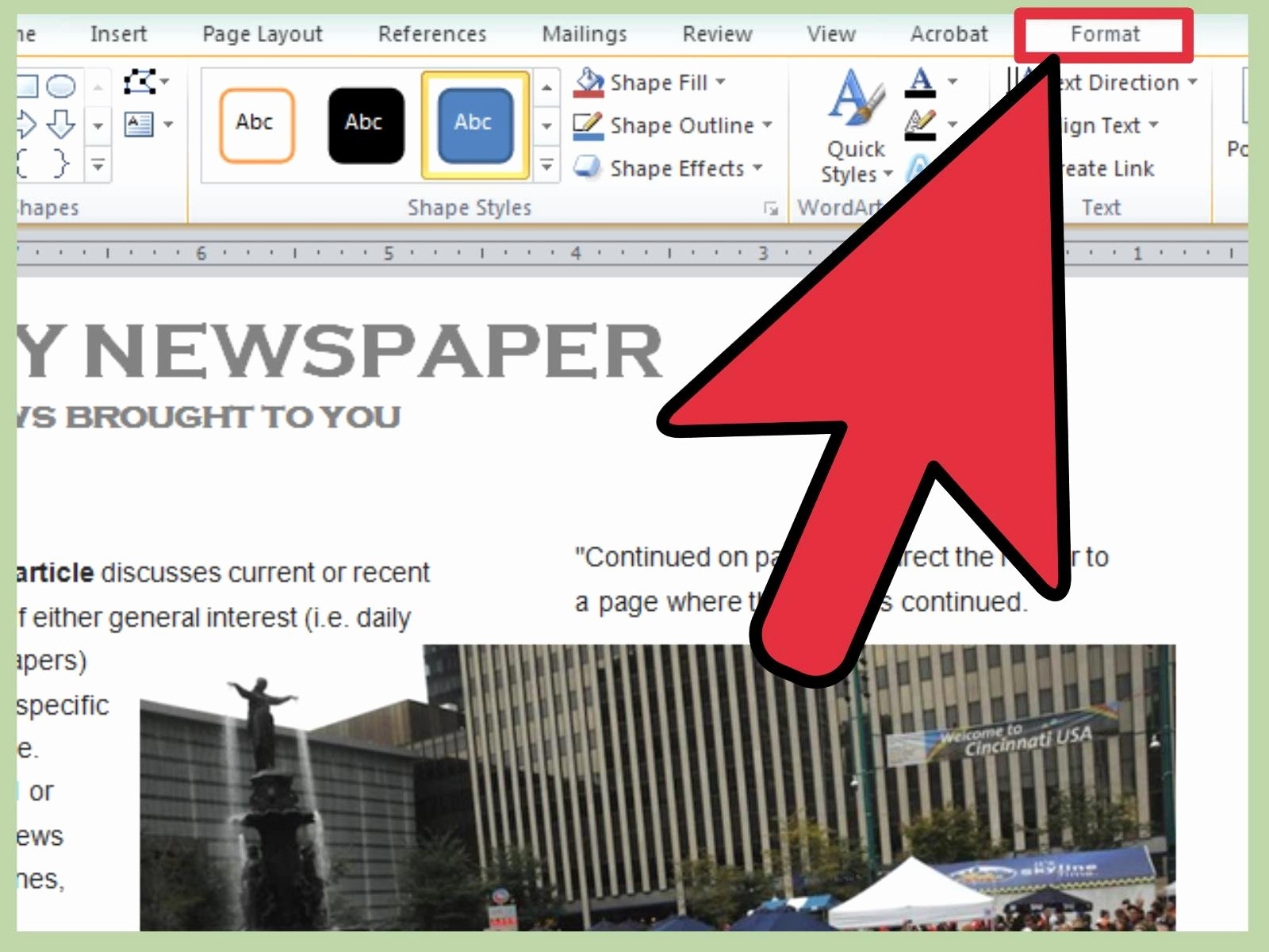 3 Ways to Make A Newspaper On Microsoft Word Wikihow