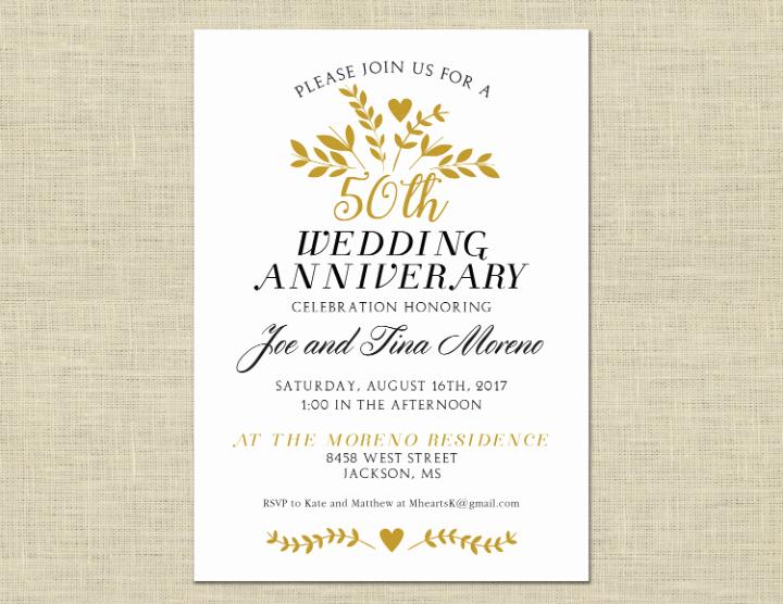 30 50th Wedding Anniversary Invitation Designs