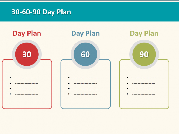 30 60 90 Day Plan Designs that'll Help You Stay On Track