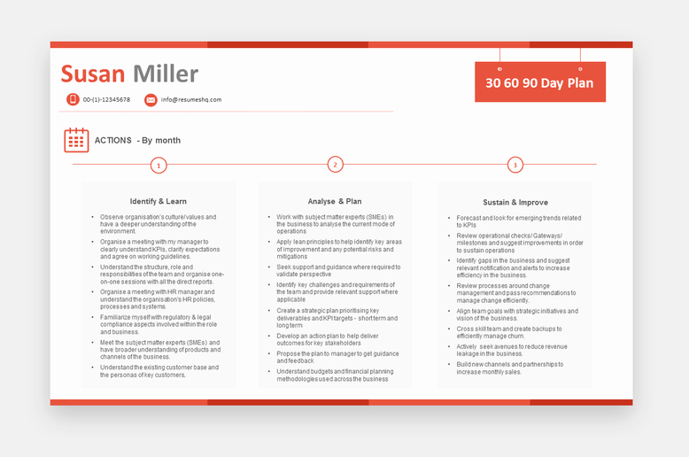 30 60 90 Day Plan Template Flat Off Use Coupon Plan35