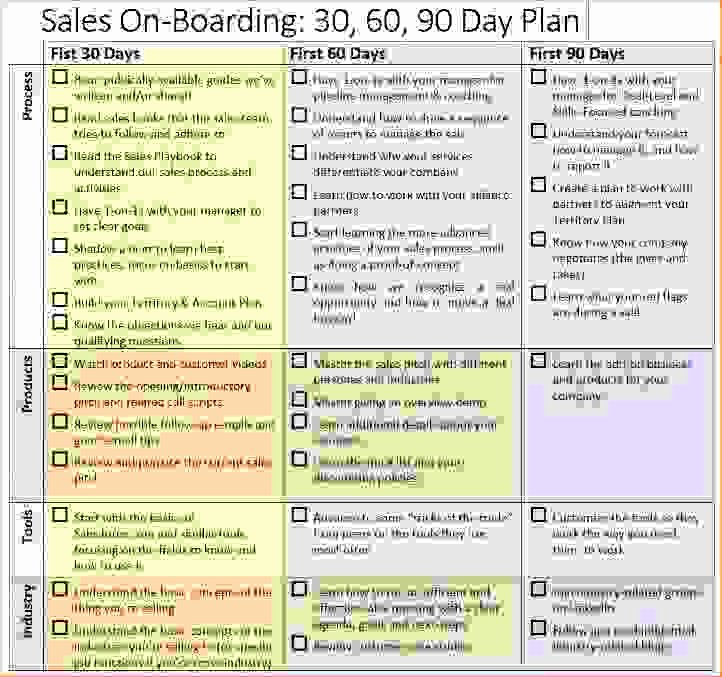 30 60 90 Sales Business Plan Sample