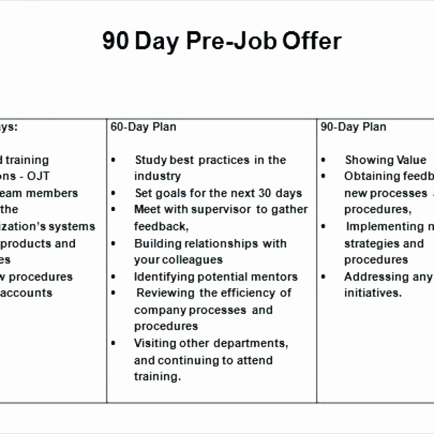 30 60 Day Plan Template – Voipersracing