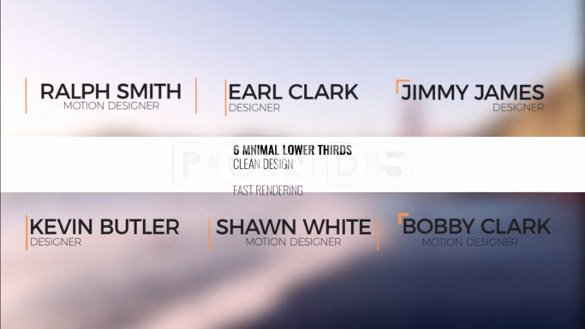 30 after Effects Lower Third Templates