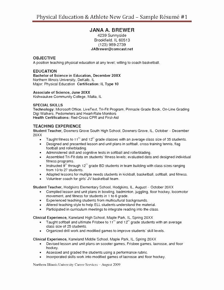 30 Basic Student athlete Resume Jv O – Resume Samples