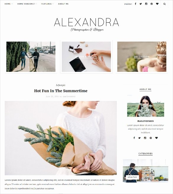 30 Beauty Blog Wordpress themes & Templates