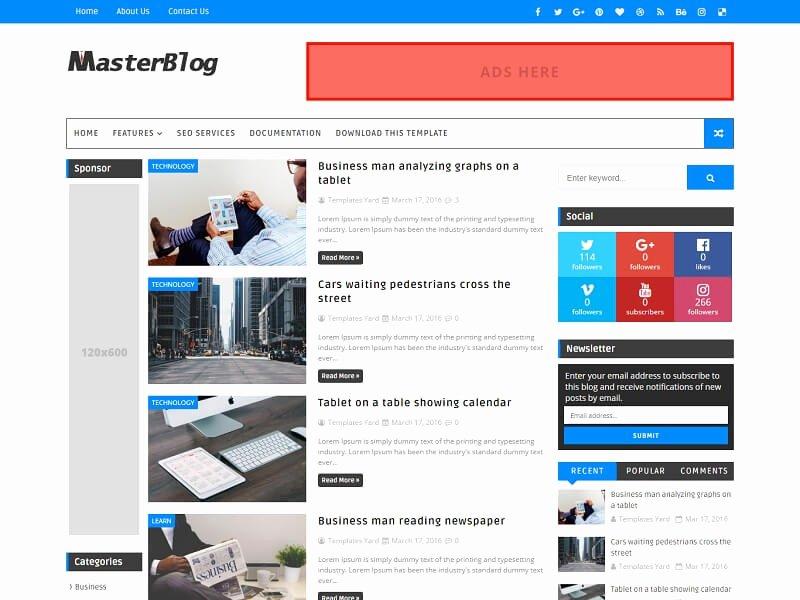30 Best Free Responsive Blogger Templates 2018