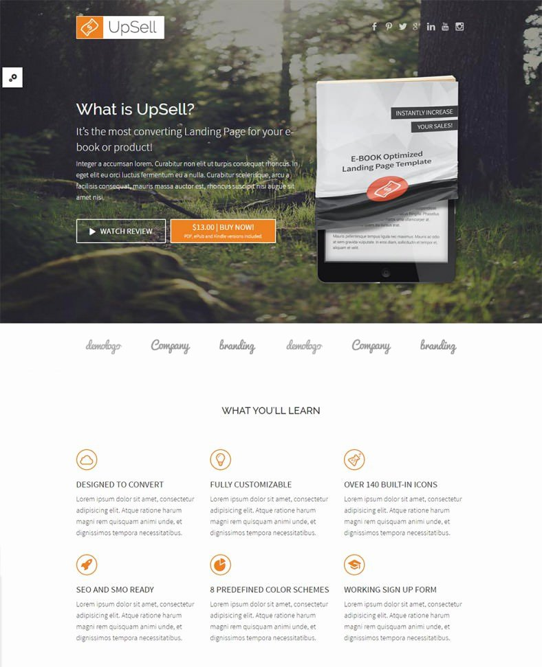 30 Best Internet Marketing Landing Page Templates