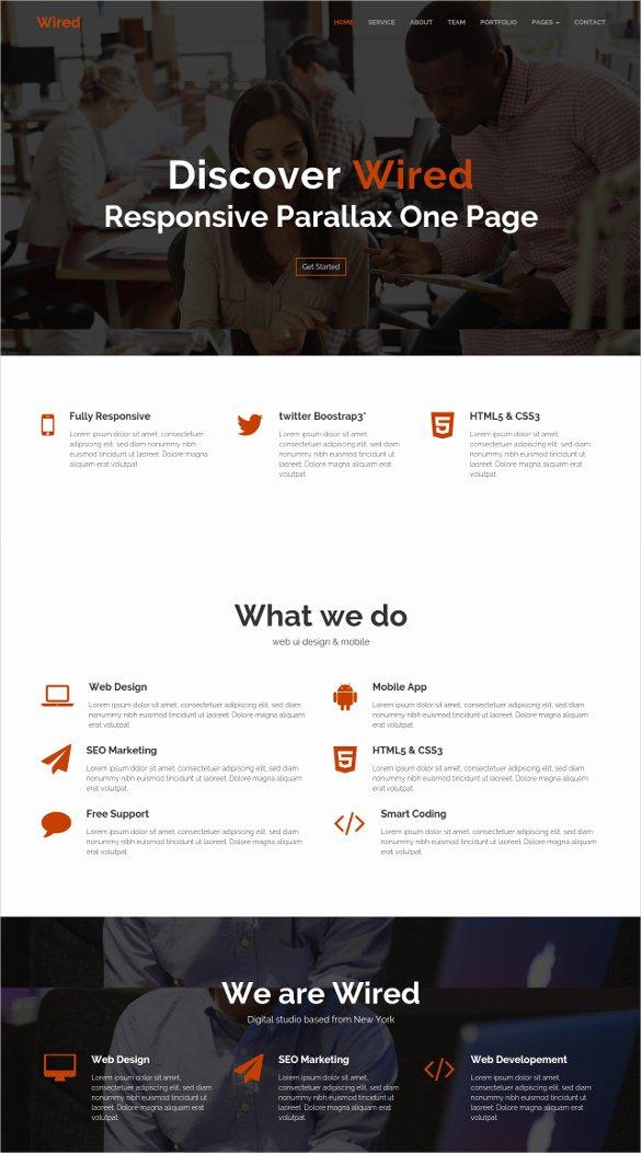 30 Best Parallax HTML5 Templates