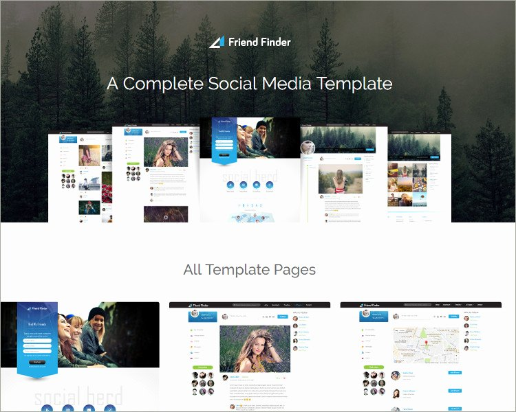 30 Best social Media Website Templates Free Download
