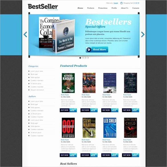 30 Book Store Website themes & Templates
