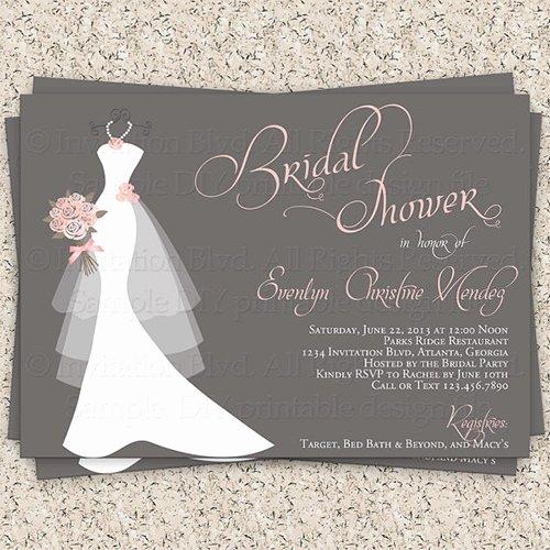30 Bridal Shower Invitations Templates