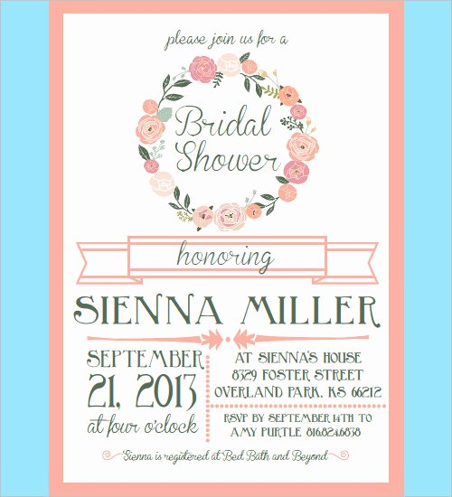 30 Bridal Shower Invitations Templates