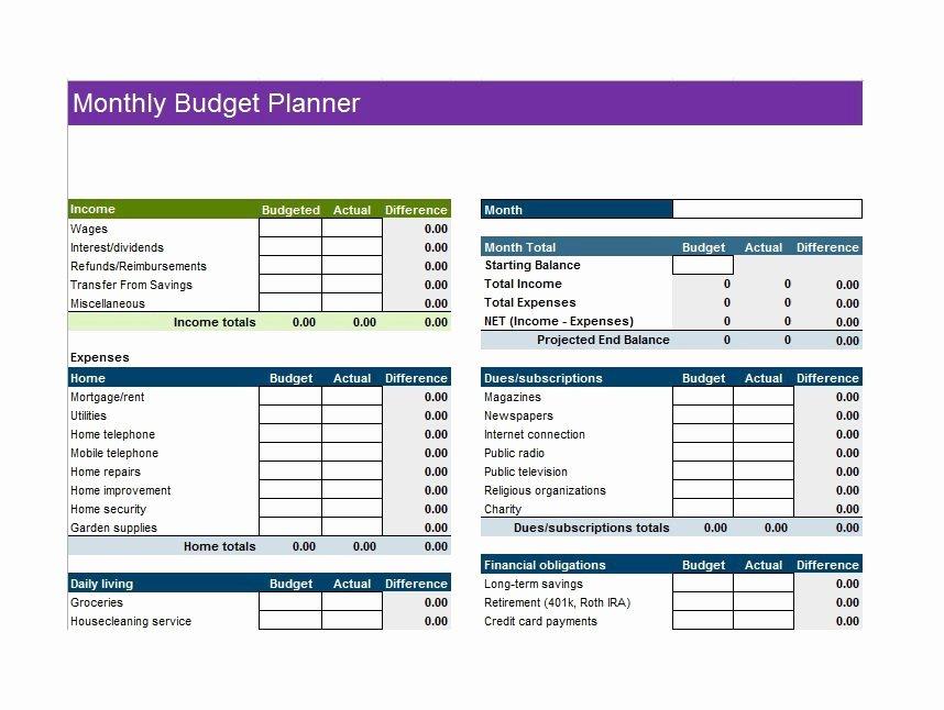 30 Bud Templates & Bud Worksheets Excel Pdf
