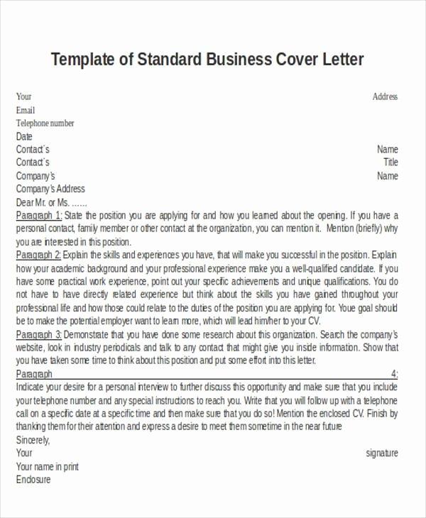 30 Business Letter format Samples