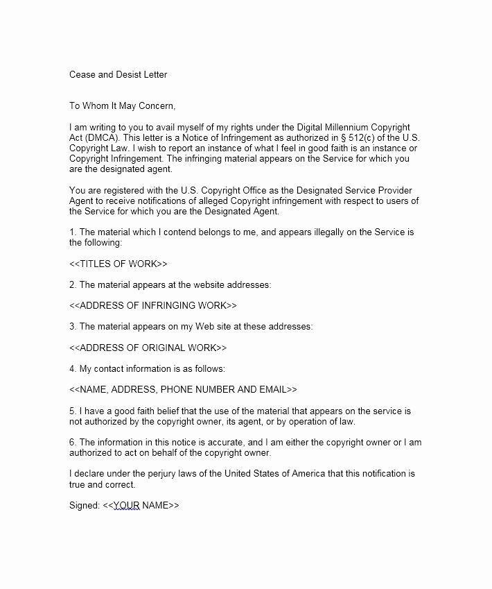 30 Cease and Desist Letter Templates [free] Template Lab