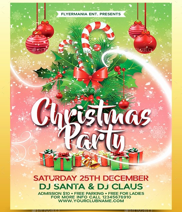 30 Christmas Flyer Templates Psd Vector format