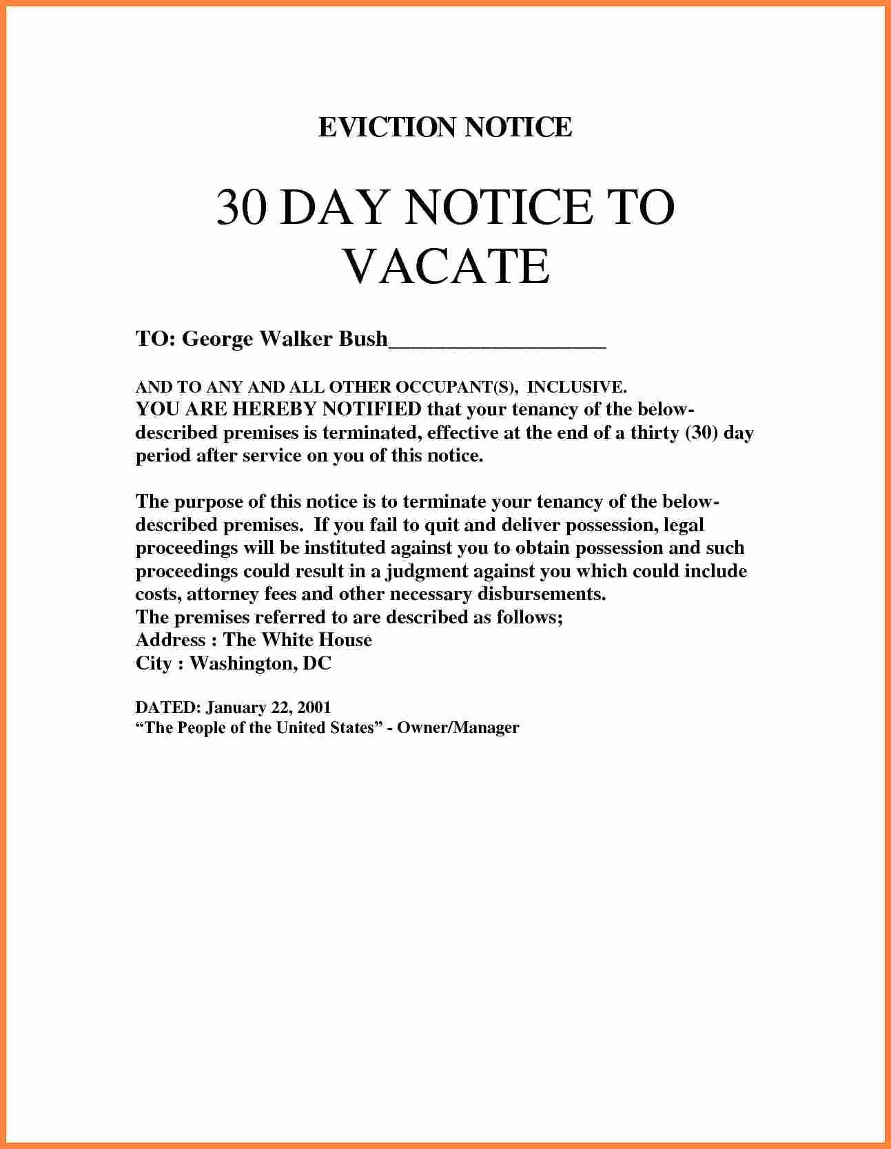 30 Day Eviction Notice Template Uk Templates Resume