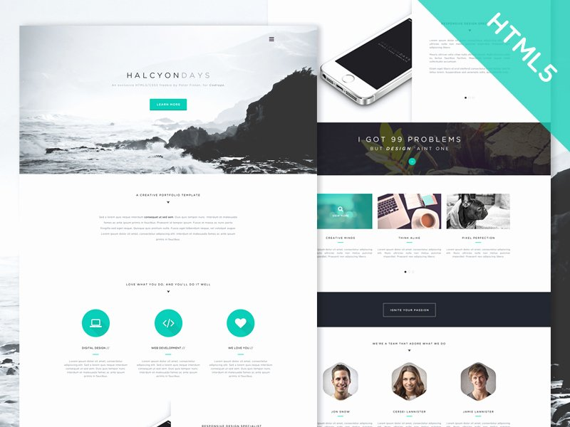 30 E Page Website Templates Built with HTML5 & Css3
