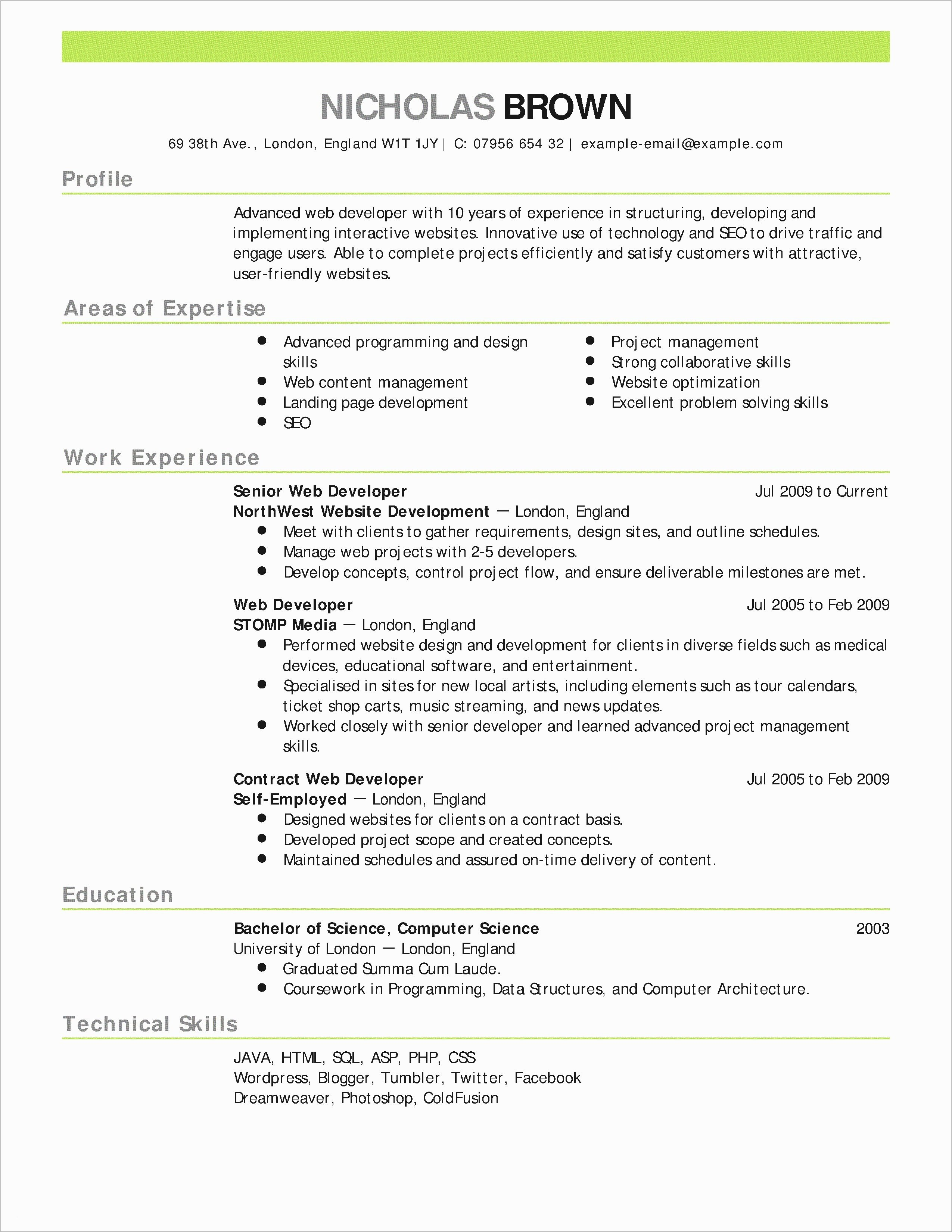 30 Examples Objective for software Developer Resume