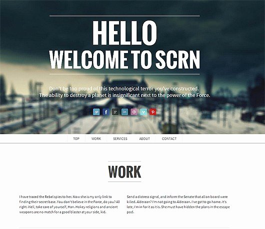 30 Expressive Parallax Templates for Websites
