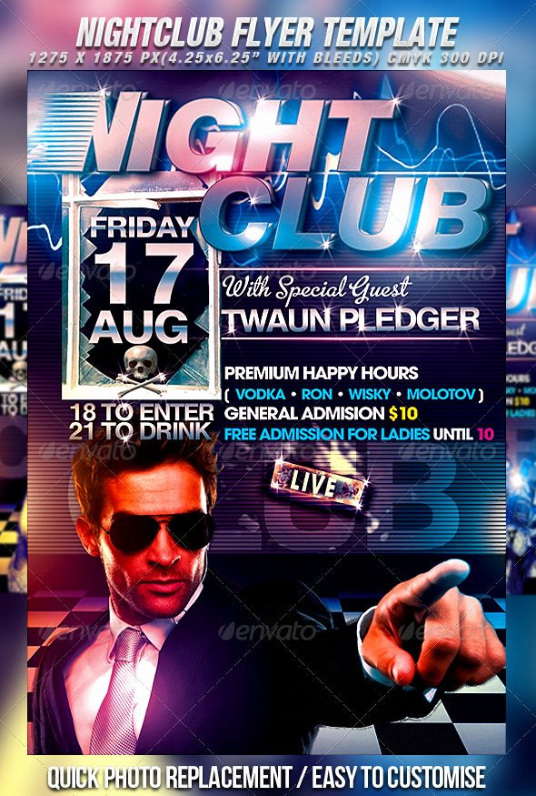 30 Fabulous Night Club Flyer Templates & Psd Designs