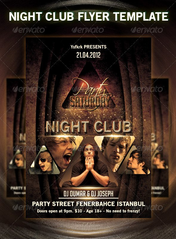 30 Fabulous Night Club Flyer Templates & Psd Designs