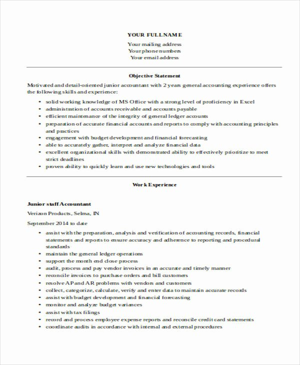 30 Free Accountant Resumes