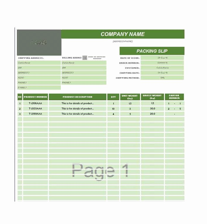 30 Free Packing Slip Templates Word Excel Template