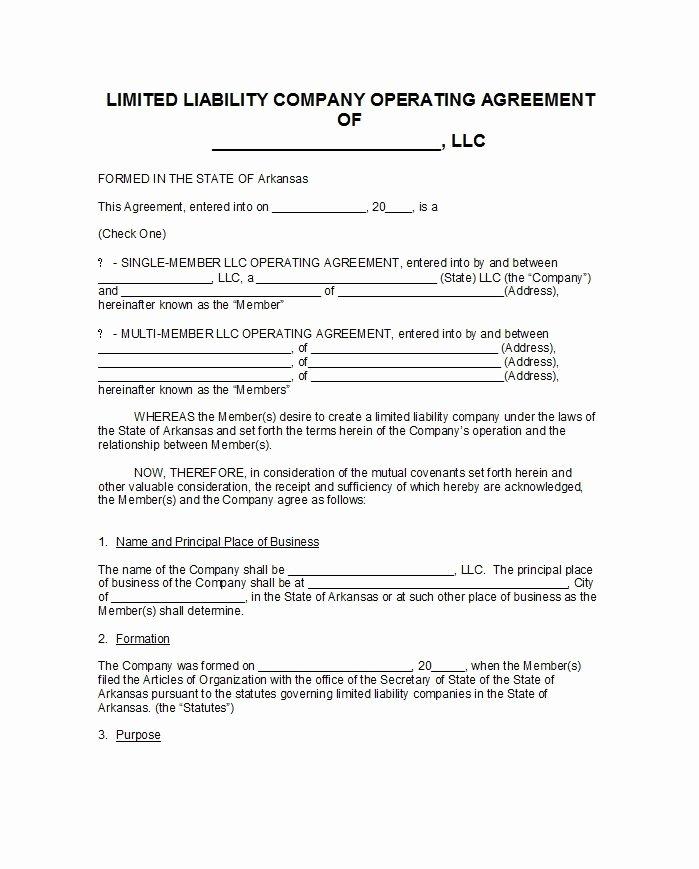 30 Free Professional Llc Operating Agreement Templates