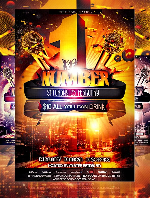 30 Free Psd Party Flyer Templates Download