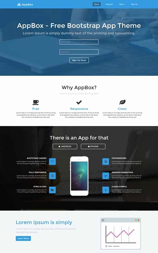 30 Free Responsive Landing Page Templates 2015